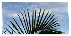 Palm And Clouds  Beach Towel