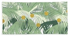 Palm And Gold Beach Towel