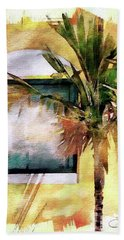 Palm And Window Beach Towel by Robert Smith