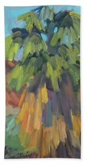 Beach Sheet featuring the painting Palm At Santa Rosa Mountains Visitors Center by Diane McClary