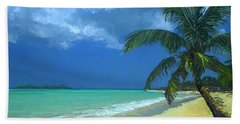 Palm Beach In The Keys Beach Towel