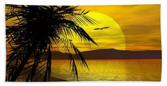 Palm Beach Beach Towel by Robert Orinski