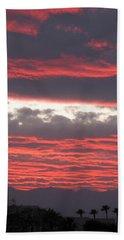 Beach Sheet featuring the photograph Palm Desert Sunset by Phyllis Kaltenbach