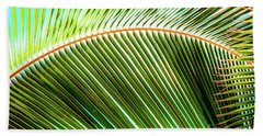 Beach Towel featuring the photograph Palm Frond Sway by D Davila