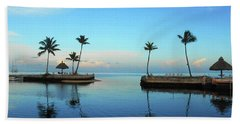 Palm Harbor Reflections  Beach Towel