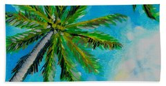 Palm In The Sky Beach Towel