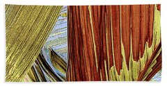 Palm Leaf Abstract Beach Towel by Ben and Raisa Gertsberg