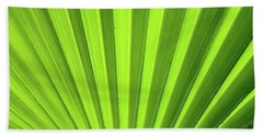 Palm Leaf Abstract Beach Towel