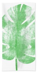 Palm Leaf- Art By Linda Woods Beach Towel