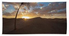 Palm On Dune Beach Towel