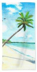 Palm Over Diani Beach Beach Towel
