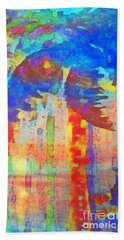 Beach Towel featuring the painting Palm Party by Holly Martinson