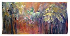 Palm Passage Beach Towel by Roberta Rotunda