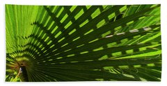 Beach Towel featuring the photograph Palm Pattern No.1 by Mark Myhaver