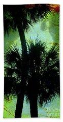 Palm Silhouettes  Beach Towel