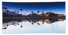 Palm Springs Reflection Beach Towel