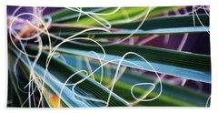 Palm Strings Beach Sheet by John Glass
