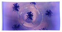 Beach Towel featuring the digital art Palm Sunday by Sherri Of Palm Springs