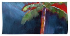 Palm Tree- Art By Linda Woods Beach Towel