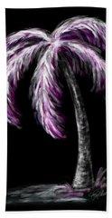 Palm Tree In Pink Beach Sheet