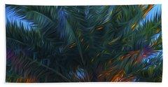 Palm Tree In The Sun Beach Sheet by Glenn Gemmell