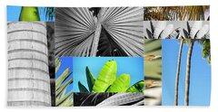 Palm Tree Parts Beach Sheet
