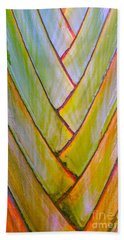 Palm Tree Pattern Beach Towel by Todd Breitling