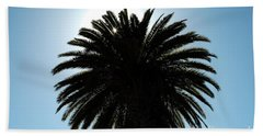 Palm Tree Silhouette Beach Towel