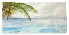 Beach Towel featuring the digital art Palm Tree Study by Darren Cannell