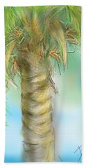 Beach Towel featuring the digital art Palm Tree Study Two by Darren Cannell