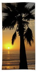 Palm Tree Sunset Beach Sheet