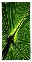 Palm Tree With Back-light Beach Towel