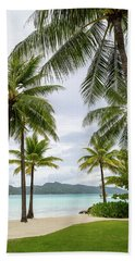 Beach Towel featuring the photograph Palm Trees 1 by Sharon Jones