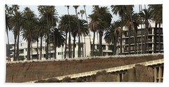 Palm Trees And Apartments Beach Towel