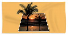 Beach Towel featuring the photograph Palm Trees At Sunset by Shane Bechler