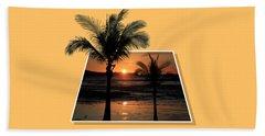 Palm Trees At Sunset Beach Sheet