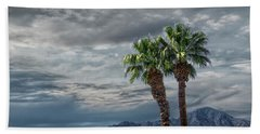 Beach Towel featuring the photograph Palm Trees By Borrego Springs In The Anza-borrego Desert State Park by Randall Nyhof
