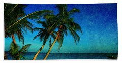 Palm Trees In Key West Beach Towel
