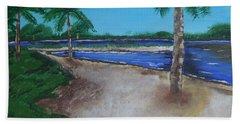 Palm Trees On The Beach Beach Sheet