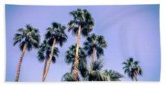 Palm Trees Palm Springs Summer Beach Sheet