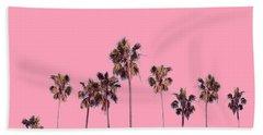 Palm Trees Pink Beach Towel