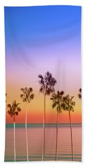 Palm Trees Sunset Beach Towel
