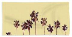 Palm Trees Yellow Beach Towel