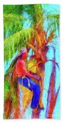 Palm Trimmer Beach Towel