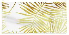 Palmes Dor Golden Palm Fronds And Leaves Beach Towel