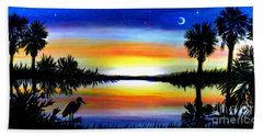 Palmetto Moon Low Country Sunset II Beach Towel