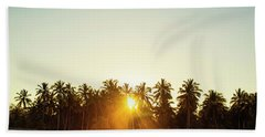Palms And Rays Beach Towel