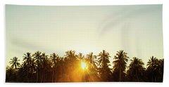 Palms And Rays Beach Sheet