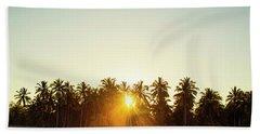 Palms And Rays Beach Towel