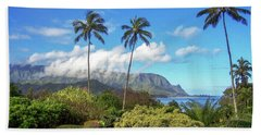 Palms At Hanalei Beach Towel by James Eddy